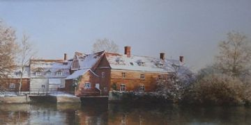 Christine Slade Original Pastel Painting Flatford Mill East Bergholt Suffolk